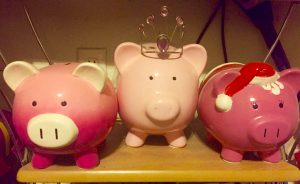 My piggy banks! I am not a collector necessarily, but I have always loved how fun they can be!